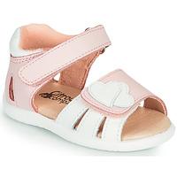 kengät Tytöt Sandaalit ja avokkaat Citrouille et Compagnie OLESS Vaaleanpunainen / Valkoinen