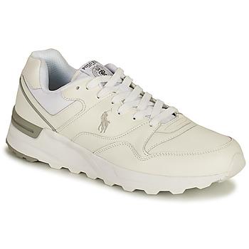 kengät Miehet Matalavartiset tennarit Polo Ralph Lauren TRCKSTR PONY-SNEAKERS-ATHLETIC SHOE Valkoinen