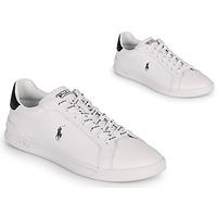 kengät Matalavartiset tennarit Polo Ralph Lauren HRT CT II-SNEAKERS-ATHLETIC SHOE Valkoinen / Musta