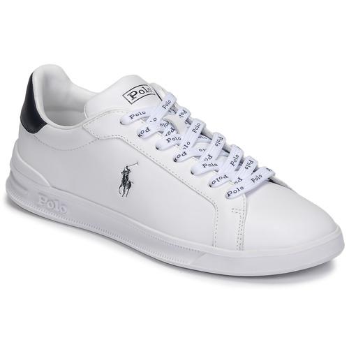 kengät Matalavartiset tennarit Polo Ralph Lauren HRT CT II-SNEAKERS-ATHLETIC SHOE Valkoinen / Laivastonsininen