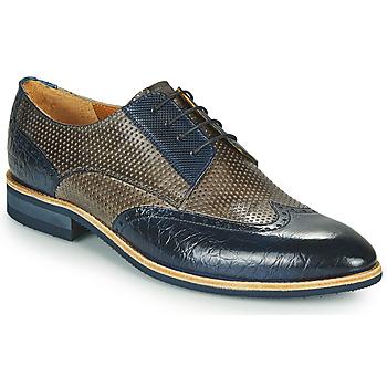 kengät Miehet Derby-kengät Melvin & Hamilton BOBBY 1 Harmaa / Sininen