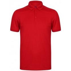 vaatteet Miehet Lyhythihainen poolopaita Henbury HB460 Red