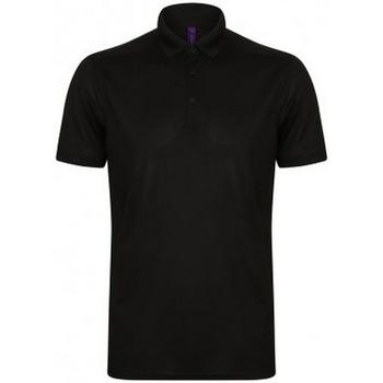 vaatteet Miehet Lyhythihainen poolopaita Henbury HB460 Black