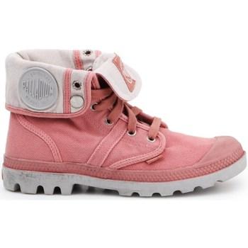 kengät Naiset Derby-kengät & Herrainkengät Palladium Manufacture Pallabrouse Baggy Vaaleanpunaiset