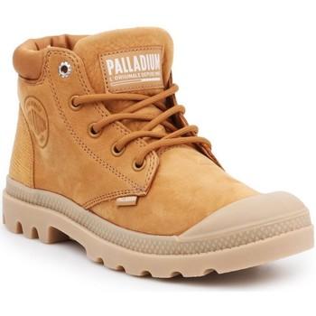 kengät Naiset Bootsit Palladium Manufacture Pampa Cuff Lea Ruskeat