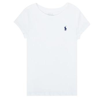 vaatteet Tytöt Lyhythihainen t-paita Polo Ralph Lauren ZALLIE Valkoinen