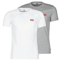 vaatteet Miehet Lyhythihainen t-paita Levi's 2PK CREWNECK GRAPHIC Valkoinen