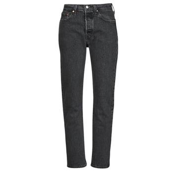 vaatteet Naiset Boyfriend-farkut Levi's 501 CROP Musta