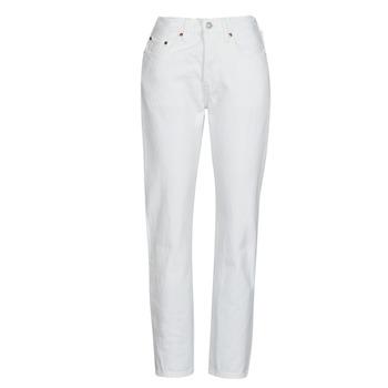 vaatteet Naiset Boyfriend-farkut Levi's 501 CROP Valkoinen
