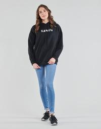 vaatteet Naiset Skinny-farkut Levi's 711 SKINNY Blue
