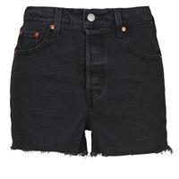 vaatteet Naiset Shortsit / Bermuda-shortsit Levi's RIBCAGE SHORT Musta