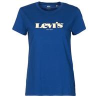 vaatteet Naiset Lyhythihainen t-paita Levi's THE PERFECT TEE Sininen