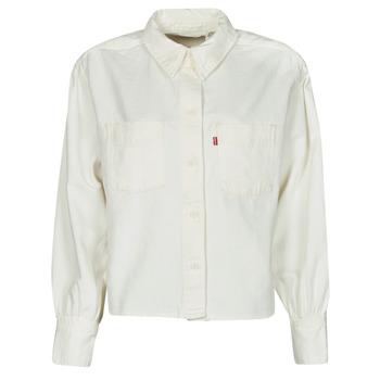 vaatteet Naiset Paitapusero / Kauluspaita Levi's ZOEY PLEAT UTILITY SHIRT Valkoinen