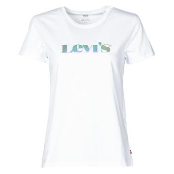 vaatteet Naiset Lyhythihainen t-paita Levi's THE PERFECT TEE Valkoinen