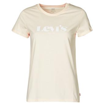 vaatteet Naiset Lyhythihainen t-paita Levi's THE PERFECT TEE Beige