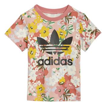 vaatteet Tytöt Lyhythihainen t-paita adidas Originals GN2262 Monivärinen