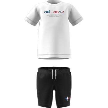 vaatteet Lapset Kokonaisuus adidas Originals GN7413 Valkoinen