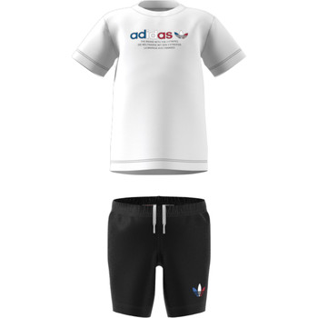 vaatteet Lapset Kokonaisuus adidas Originals GN7413 White