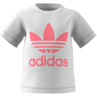 vaatteet Lapset Lyhythihainen t-paita adidas Originals GN8175 Valkoinen