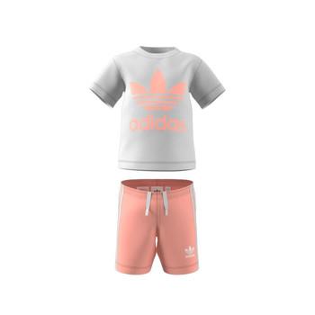 vaatteet Lapset Kokonaisuus adidas Originals GN8192 Valkoinen