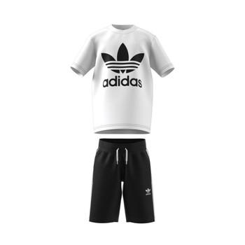 vaatteet Lapset Kokonaisuus adidas Originals GP0194 Valkoinen