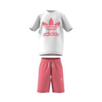 vaatteet Lapset Kokonaisuus adidas Originals GP0195 Valkoinen