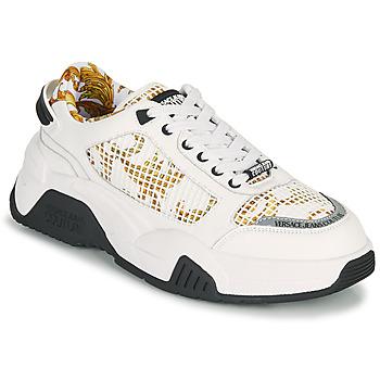 kengät Miehet Matalavartiset tennarit Versace Jeans Couture HATINA Valkoinen / Kulta