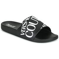 kengät Miehet Rantasandaalit Versace Jeans Couture TENNIA Musta / Valkoinen