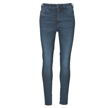 vaatteet Naiset Skinny-farkut Diesel D-SLANDY-HIGH Sininen