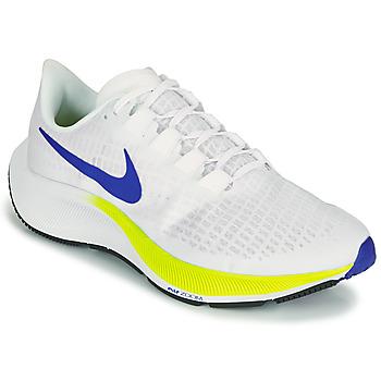 kengät Miehet Juoksukengät / Trail-kengät Nike AIR ZOOM PEGASUS 37 Valkoinen / Sininen / Keltainen