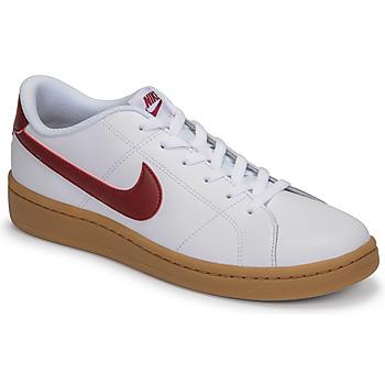 kengät Miehet Matalavartiset tennarit Nike COURT ROYALE 2 LOW Valkoinen / Punainen