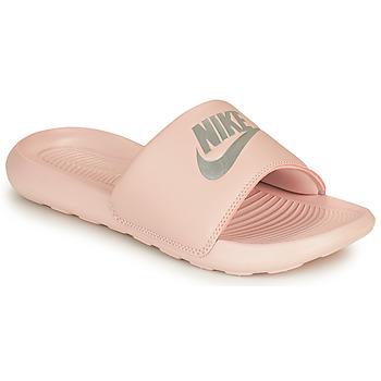 kengät Naiset Rantasandaalit Nike VICTORI ONE BENASSI Vaaleanpunainen / Hopea