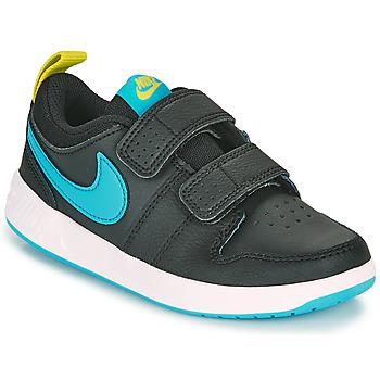 kengät Pojat Matalavartiset tennarit Nike PICO 5 PS Musta / Sininen