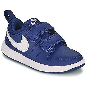 kengät Pojat Matalavartiset tennarit Nike PICO 5 PS Sininen / Valkoinen