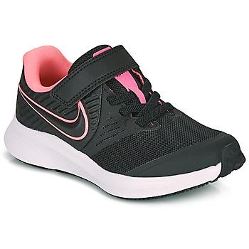 kengät Tytöt Urheilukengät Nike STAR RUNNER 2 PS Musta / Vaaleanpunainen