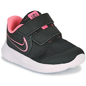kengät Tytöt Urheilukengät Nike STAR RUNNER 2 TD Musta / Vaaleanpunainen