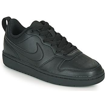 kengät Lapset Matalavartiset tennarit Nike COURT BOROUGH LOW 2 GS Musta