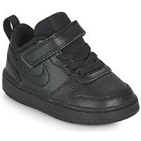 kengät Lapset Matalavartiset tennarit Nike COURT BOROUGH LOW 2 TD Musta