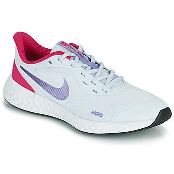 kengät Tytöt Urheilukengät Nike REVOLUTION 5 GS Sininen / Violetti