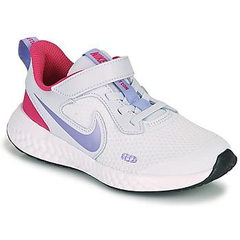 kengät Tytöt Urheilukengät Nike REVOLUTION 5 PS Blue / Violet