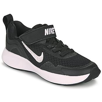 kengät Lapset Urheilukengät Nike WEARALLDAY PS Musta / Valkoinen