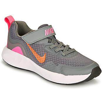 kengät Tytöt Urheilukengät Nike WEARALLDAY PS Grey / Pink
