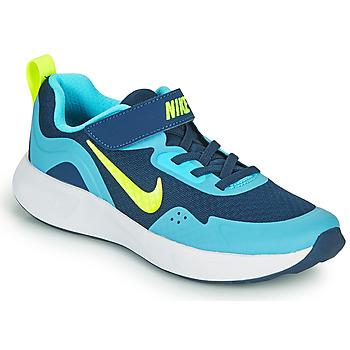 kengät Pojat Urheilukengät Nike WEARALLDAY PS Sininen / Vihreä