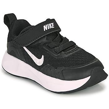 kengät Lapset Urheilukengät Nike WEARALLDAY TD Musta / Valkoinen