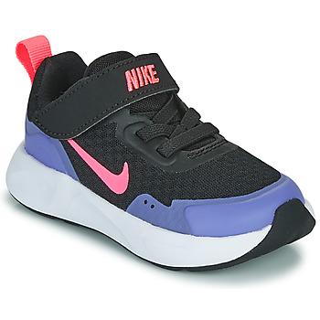 kengät Tytöt Urheilukengät Nike WEARALLDAY TD Musta / Sininen
