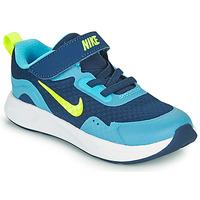kengät Pojat Urheilukengät Nike WEARALLDAY TD Sininen / Vihreä