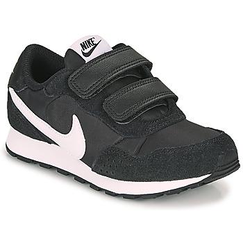 kengät Lapset Matalavartiset tennarit Nike MD VALIANT PS Black / White