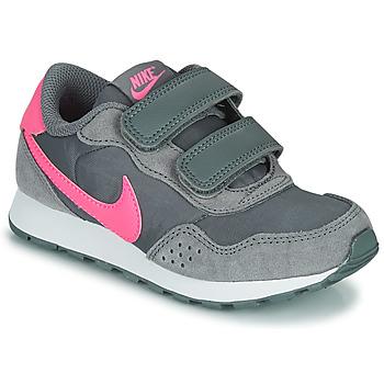 kengät Tytöt Matalavartiset tennarit Nike MD VALIANT PS Harmaa / Vaaleanpunainen