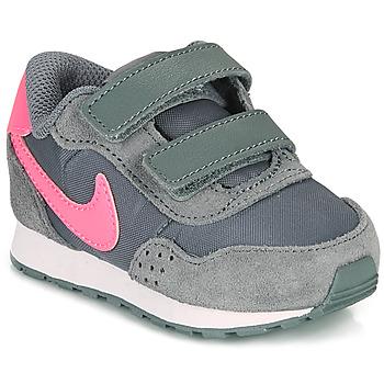 kengät Tytöt Matalavartiset tennarit Nike MD VALIANT TD Harmaa / Vaaleanpunainen