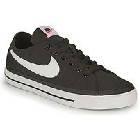 kengät Miehet Matalavartiset tennarit Nike NIKE COURT LEGACY CANVAS Musta / Valkoinen